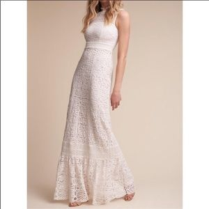 BHLDN Ojai Dress Hitherto Lace Full Length Wedding
